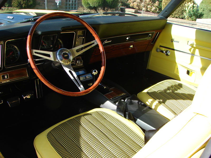 1969 rallysport z28 camaro with factory mint original yellow houndstooth. Black Bedroom Furniture Sets. Home Design Ideas
