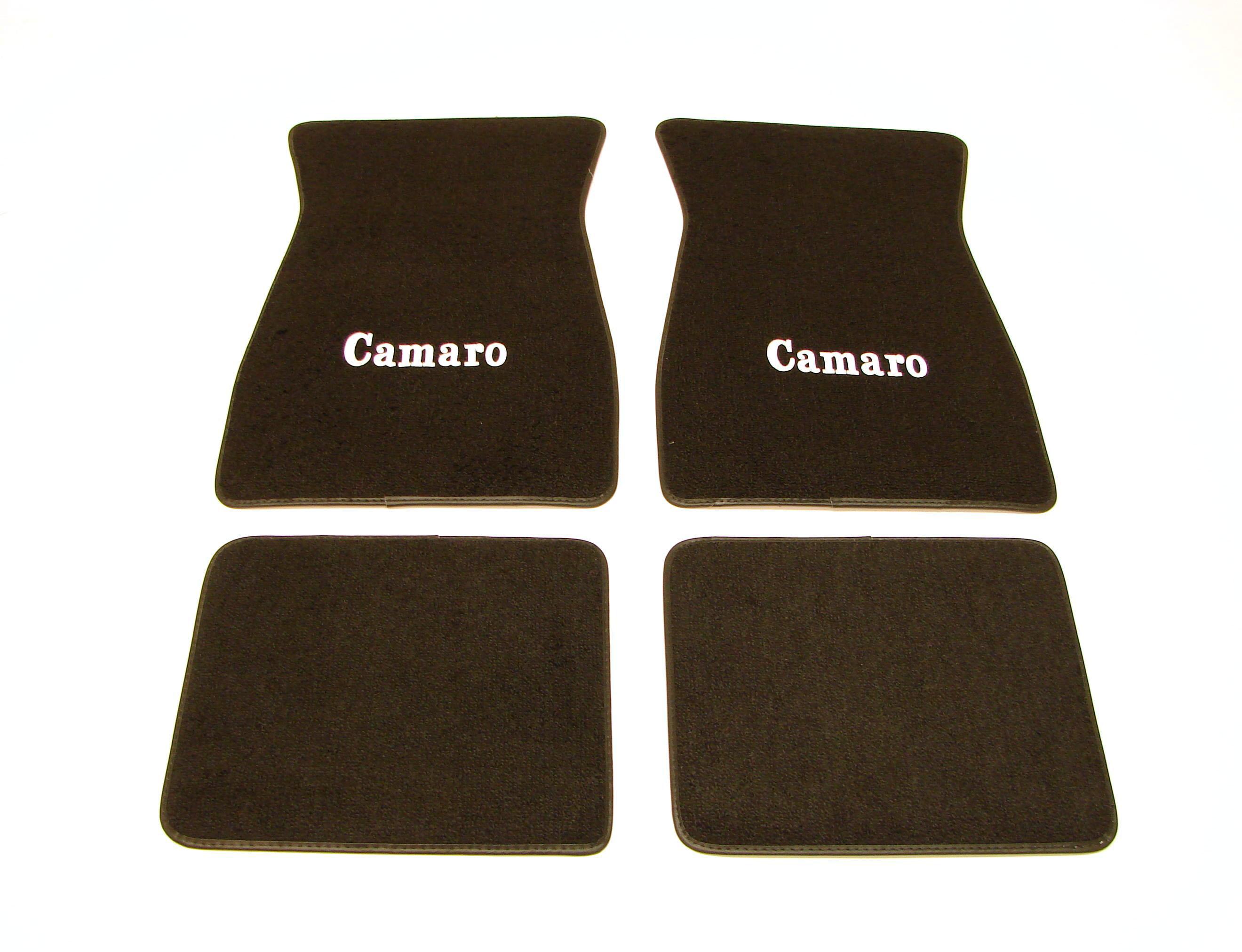 1967 1968 1969 camaro floor mats w camaro logo black ebay for 1967 camaro floor mats