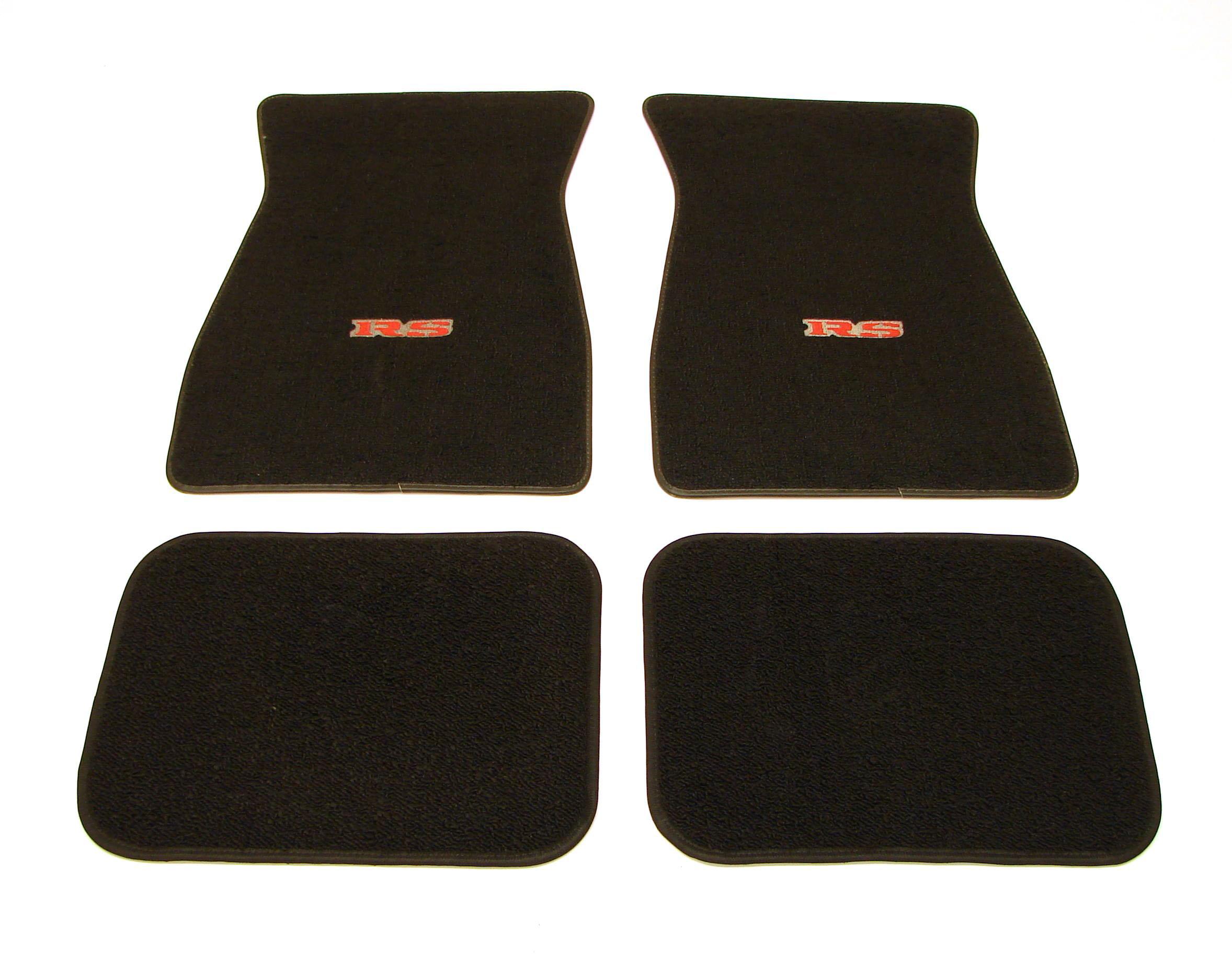 1967 1968 1969 camaro floor mats w rs logo black ebay for 1969 camaro floor mats