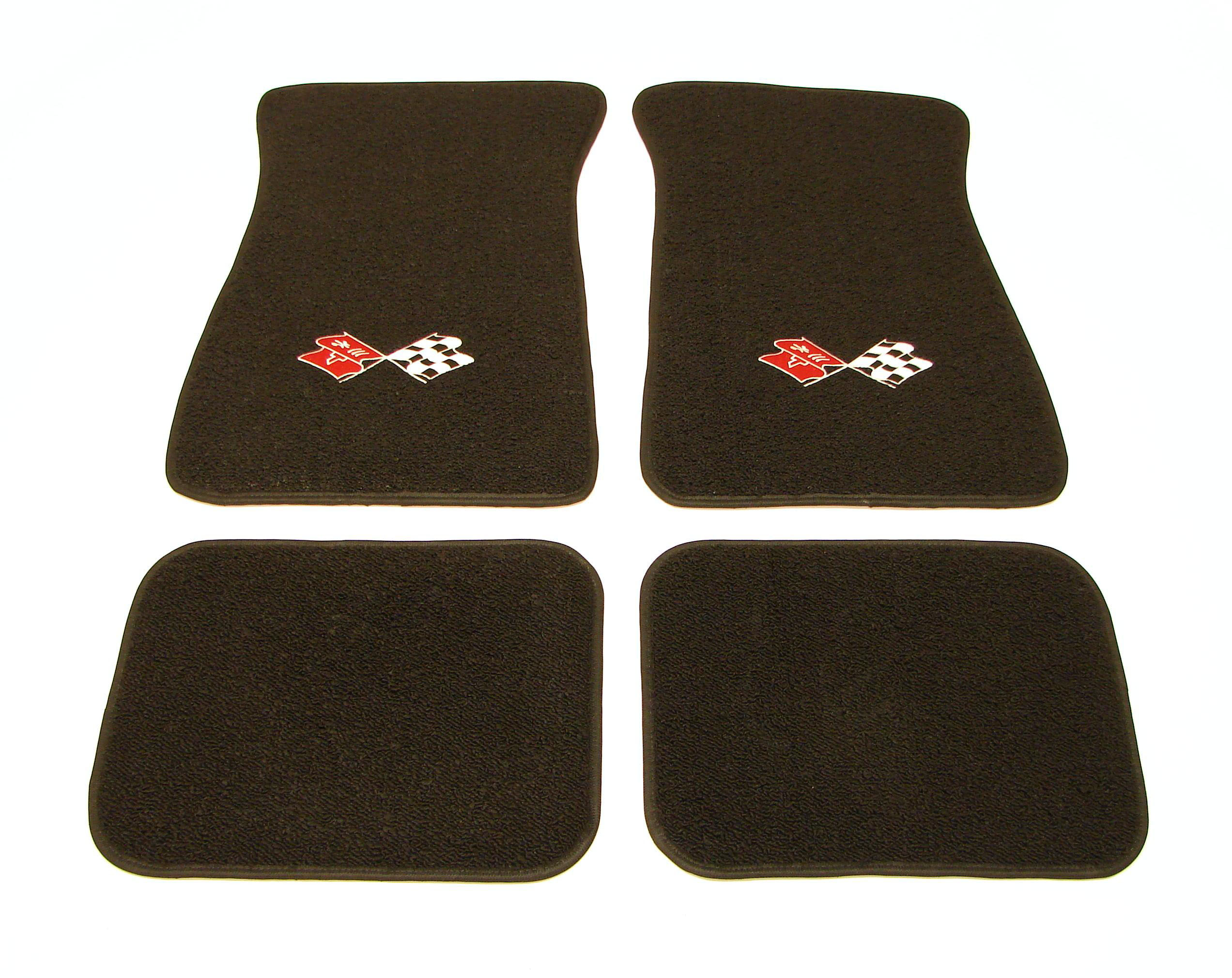 1967 1968 1969 camaro floor mats w cross flags logo made for 1969 camaro floor mats